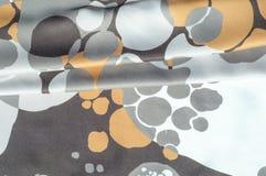 Textuur, achtergrond, patroon Abstract patroon op een zijdestof, Royalty-vrije Stock Afbeelding