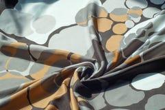 Textuur, achtergrond, patroon Abstract patroon op een zijdestof, Royalty-vrije Stock Foto