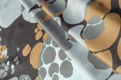 Textuur, achtergrond, patroon Abstract patroon op een zijdestof, Royalty-vrije Stock Fotografie