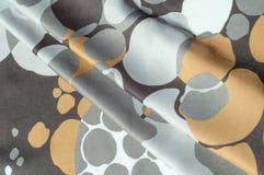 Textuur, achtergrond, patroon Abstract patroon op een zijdestof, Stock Foto's