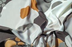 Textuur, achtergrond, patroon Abstract patroon op een zijdestof, Stock Foto
