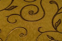 Textuur, achtergrond, patroon Damaststof met glanzende patronen Stock Foto's