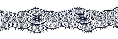 Textuur, achtergrond, patroon De stof van het kant Donkerblauwe kleur Eleg Royalty-vrije Stock Foto's