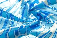 Textuur, achtergrond, patroon De de zijdezakdoek van een vrouw sjaal Stock Afbeeldingen