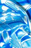 Textuur, achtergrond, patroon De de zijdezakdoek van een vrouw sjaal Royalty-vrije Stock Fotografie