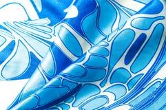 Textuur, achtergrond, patroon De de zijdezakdoek van een vrouw sjaal Royalty-vrije Stock Afbeelding