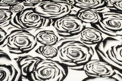 Textuur, achtergrond, patroon Een wollen zwart-witte sjaal, r Royalty-vrije Stock Fotografie