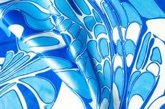 Textuur, achtergrond, patroon Een zakdoek van de vrouwen` s zijde sjaal Royalty-vrije Stock Foto