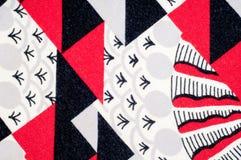 Textuur, achtergrond, patroon Gebreide stof van abstract ontwerp Stock Foto