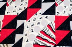 Textuur, achtergrond, patroon Gebreide stof van abstract ontwerp Royalty-vrije Stock Foto's