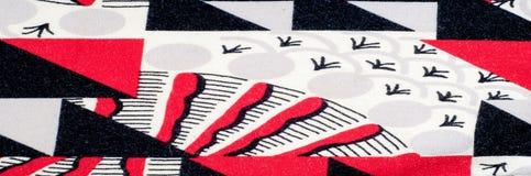 Textuur, achtergrond, patroon Gebreide stof van abstract ontwerp Stock Fotografie