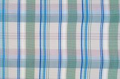 Textuur, achtergrond, patroon overhemd Blauwe witte roze groen Fabr Royalty-vrije Stock Afbeelding