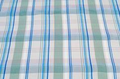 Textuur, achtergrond, patroon overhemd Blauwe witte roze groen Fabr Royalty-vrije Stock Fotografie