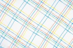Textuur, achtergrond, patroon overhemd Blauwe witte roze groen Fabr Royalty-vrije Stock Foto's