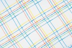 Textuur, achtergrond, patroon overhemd Blauwe witte roze groen Fabr Stock Foto