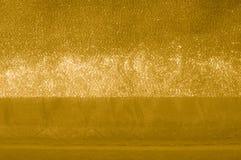 Textuur, achtergrond, patroon Stof - zijdelicht Het goud is yello Stock Fotografie