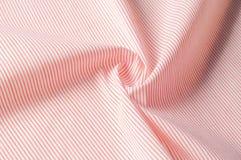 Textuur achtergrondpatroon Doekkatoen Wit in rode strepen Stock Afbeeldingen
