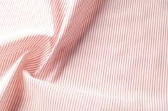 Textuur achtergrondpatroon Doekkatoen Wit in rode strepen Stock Foto