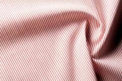 Textuur achtergrondpatroon Doekkatoen Wit in rode strepen Royalty-vrije Stock Foto's