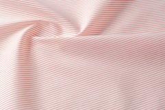 Textuur achtergrondpatroon Doekkatoen Wit in rode strepen Stock Fotografie