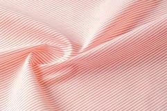 Textuur achtergrondpatroon Doekkatoen Wit in rode strepen Stock Afbeelding