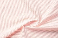 Textuur achtergrondpatroon Doekkatoen Wit in rode strepen Royalty-vrije Stock Afbeelding
