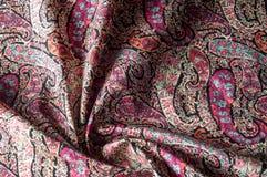 Textuur achtergrondpatroon Het uitstekende bloemen etnische motief van Paisley Royalty-vrije Stock Foto's