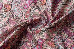 Textuur achtergrondpatroon Het uitstekende bloemen etnische motief van Paisley Stock Afbeelding