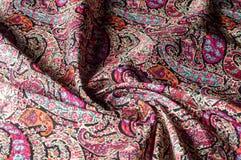 Textuur achtergrondpatroon Het uitstekende bloemen etnische motief van Paisley Royalty-vrije Stock Fotografie