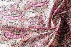 Textuur achtergrondpatroon Het uitstekende bloemen etnische motief van Paisley Stock Foto's
