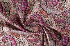 Textuur achtergrondpatroon Het uitstekende bloemen etnische motief van Paisley Stock Fotografie