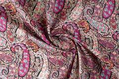 Textuur achtergrondpatroon Het uitstekende bloemen etnische motief van Paisley Royalty-vrije Stock Foto