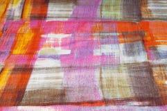 Textuur achtergrondpatroon Zijde dunne stof, abstract patroon o Stock Foto