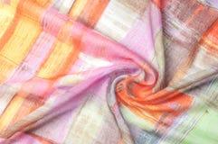 Textuur achtergrondpatroon Zijde dunne stof, abstract patroon o Royalty-vrije Stock Afbeeldingen