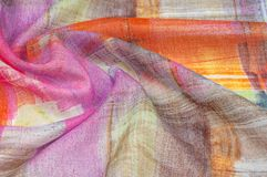 Textuur achtergrondpatroon Zijde dunne stof, abstract patroon o Stock Foto's