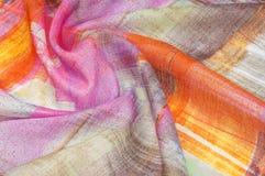 Textuur achtergrondpatroon Zijde dunne stof, abstract patroon o Stock Fotografie