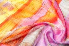Textuur achtergrondpatroon Zijde dunne stof, abstract patroon o Royalty-vrije Stock Afbeelding