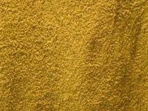 Textuur amber katoenen handdoekachtergrond Stock Fotografie
