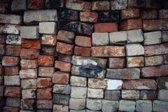 Textuur, baksteen van een oud gestapeld fornuis stock afbeeldingen