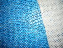 Textuur blauw leer Stock Foto
