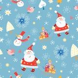 Textuur de vrolijke Kerstman royalty-vrije illustratie