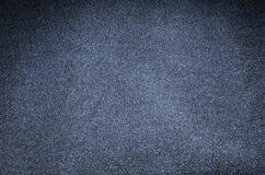 Textuur donkerblauwe doek als achtergrond Stock Afbeeldingen