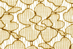 Textuur, druk en wale van stoffen abstract geel patroon Royalty-vrije Stock Afbeelding