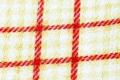 Textuur, druk en wale van stoffen Wit en Rood patroon Royalty-vrije Stock Foto's