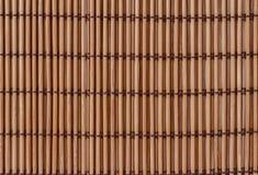 Textuur een bamboe met stof het weven Royalty-vrije Stock Fotografie