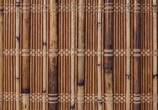 Textuur een bamboe met stof het weven Stock Fotografie