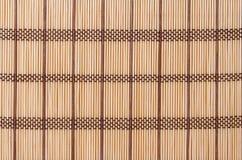 Textuur een bamboe met stof het weven Stock Foto's