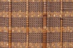 Textuur een bamboe met stof het weven Royalty-vrije Stock Foto