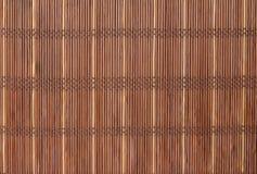 Textuur een bamboe met stof het weven Stock Afbeelding