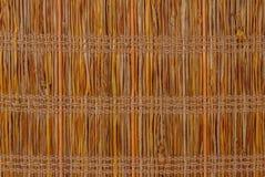 Textuur een bamboe met stof het weven Royalty-vrije Stock Afbeelding